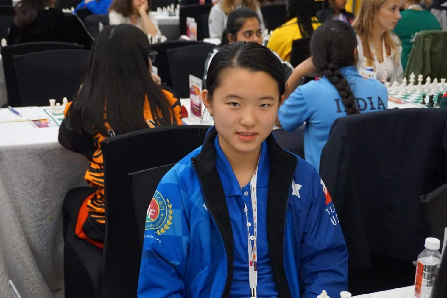 Freshman Amy Lei at the World Youth Chess Championship in Mumbai, India where is she currently competing.