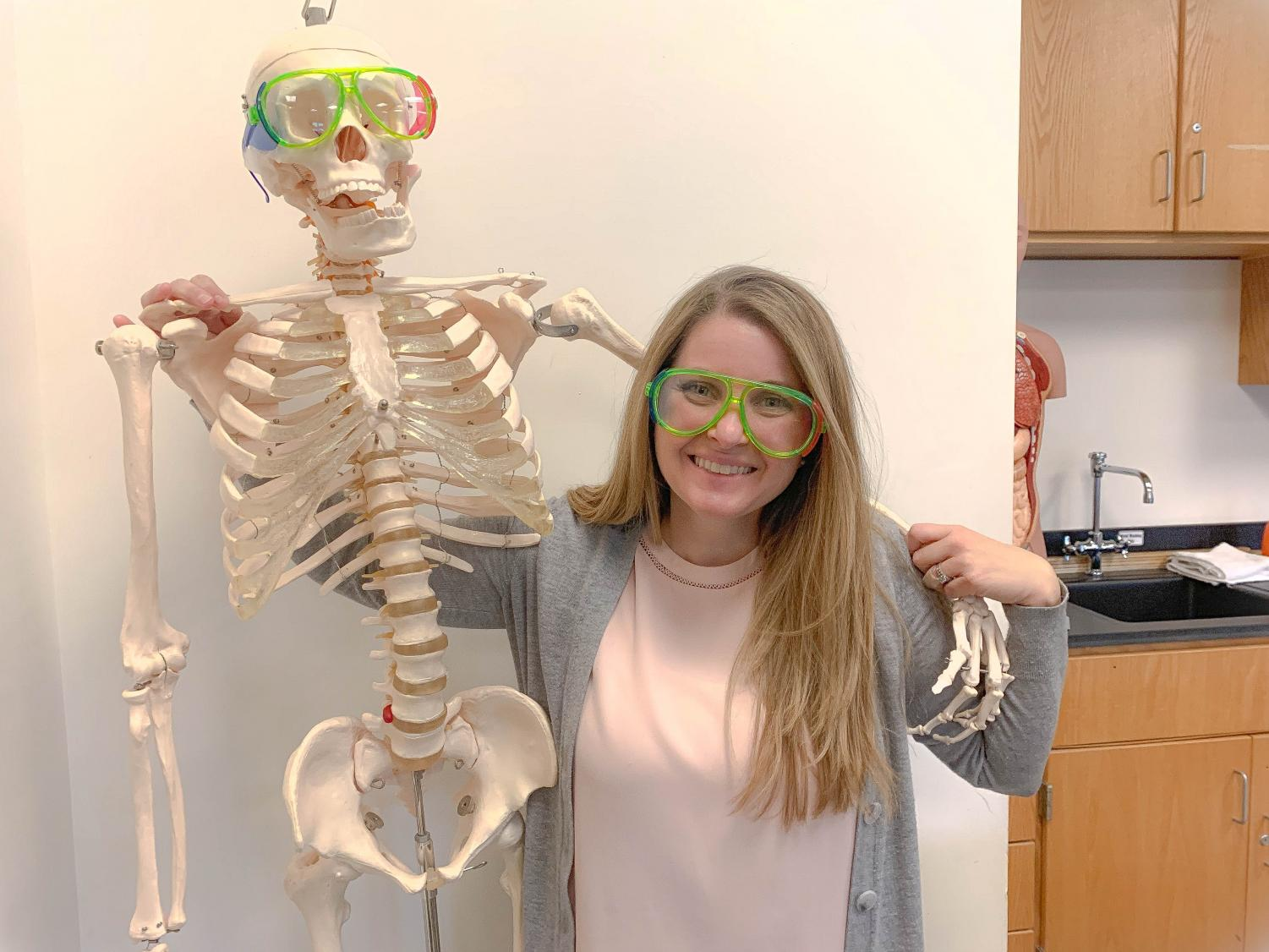 New Biology teacher Courtney Giplin came to Algonquin after subbing in the district last year and teaching in the Midwest.