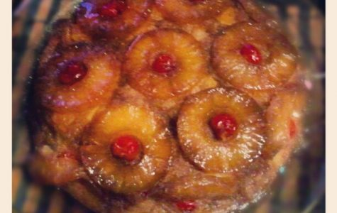 Psychology teacher Christina Smith's recipe for cranberry upside down cake