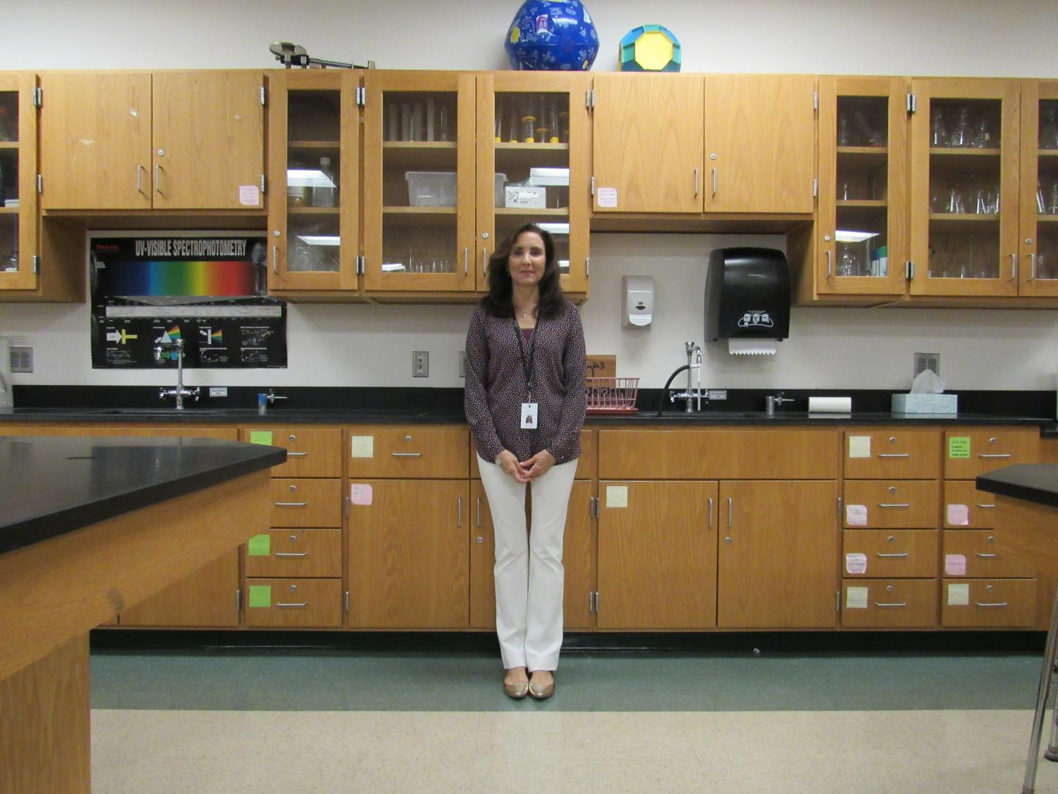 New Chemistry teacher Sheri Ablaza hopes to leave a positive mark on Algonquin.