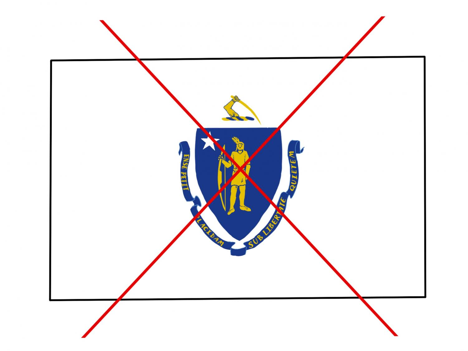 Graphics Coordinator Sharada Vishwanath argues that the Massachusetts state flag must be changed because it represents the terror settlers brought to the natives in the states colonial years.
