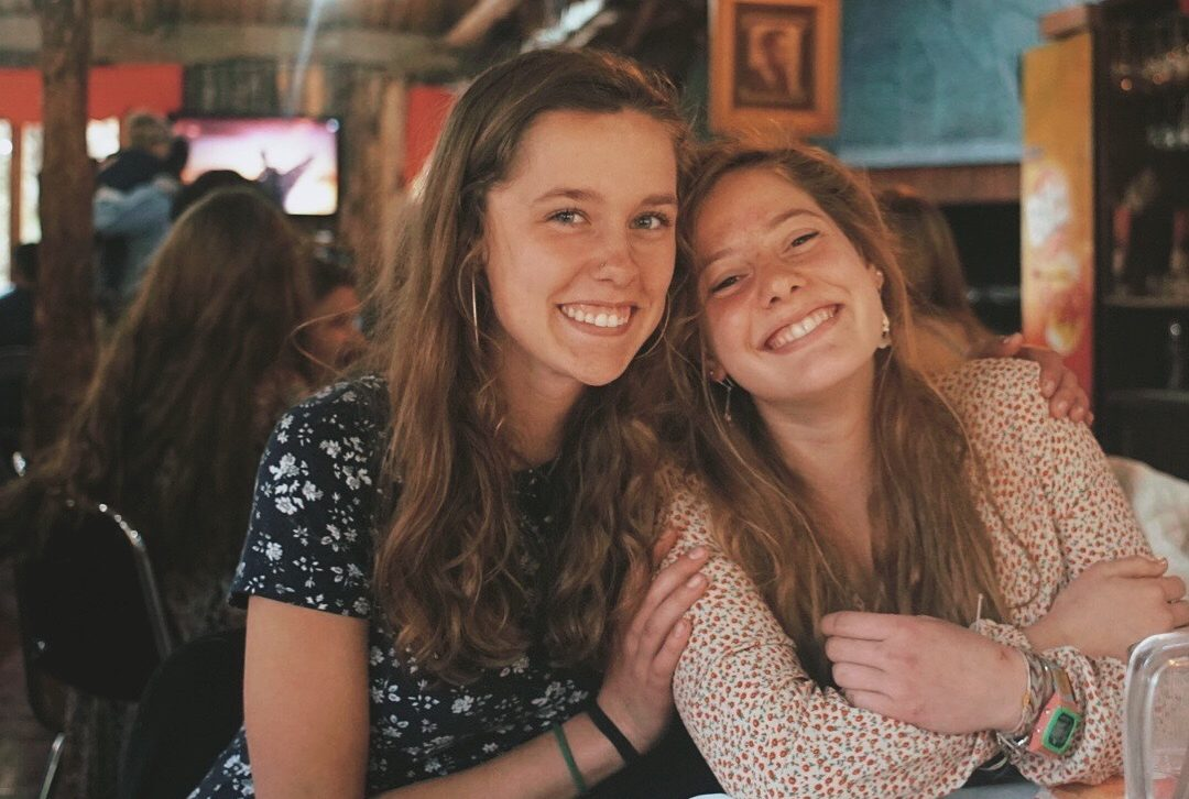 Junior Marley [right] parks pictured with a friend from the Alzar school in Chile.  Parks spent her second semester of her sophomore year at the Alzar school in both Idaho and Chile where she got a more hands-on learning experience than what is seen at Algonquin.