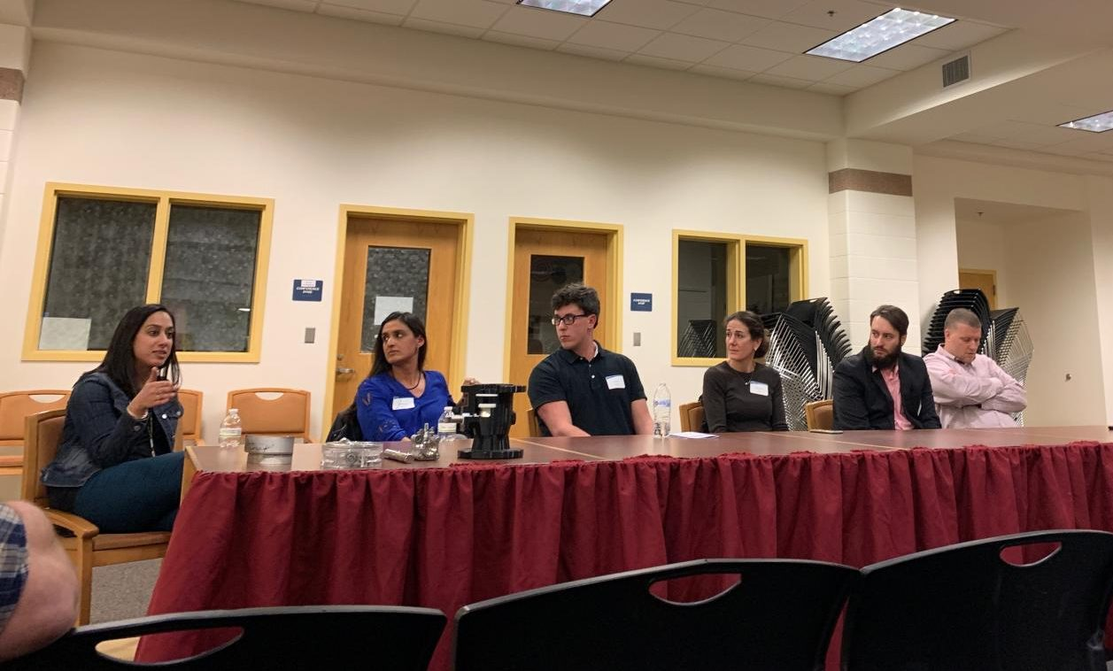 CFO of General Electric Healthcare Services Renika Sehgal discuses her career path. Seventeen professionals, including Sehgal, came to Algonquin on Nov. 13 to participate in DECA's annual Networking Night.