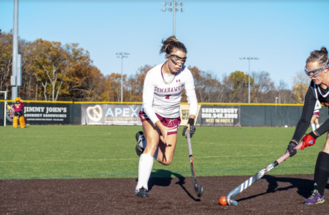 Strong start leads field hockey to first playoff win