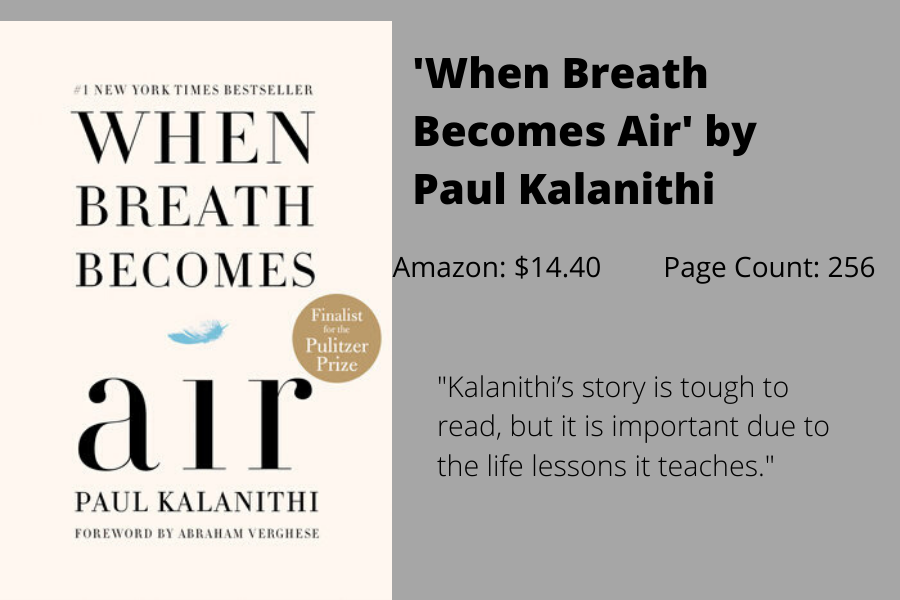 Staff+Writer+Kayla+Albers+writes+that+%22When+Breath+Becomes+Air%22+by+Paul+Kalanithi+can+show+readers+the+realness+of+mortality.+