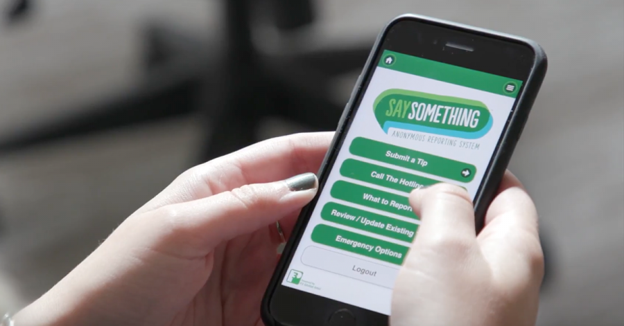 Students will be introduced to the Say Something Anonymous Reporting System during double third period on November 7. The app allows students to anonymously report concerns to a national crisis center.