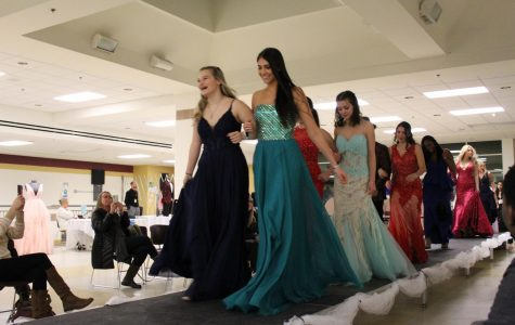 On Feb. 6, juniors participated in the yearly Prom Fashion Show to help students and their families find dresses and suits for the upcoming junior prom.