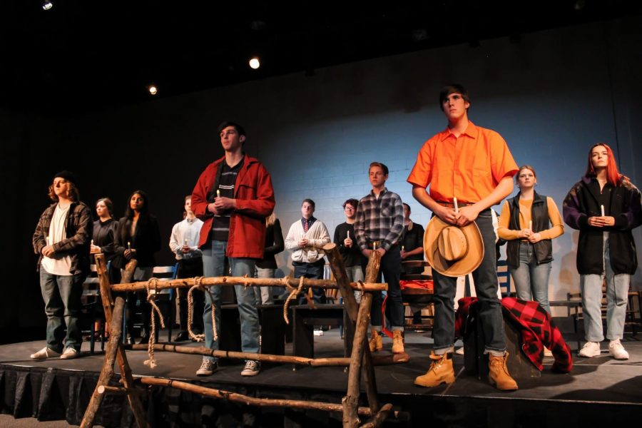 Drama+students+came+together+on+Feb.+27+during+double+period+3+and+Feb.+28+at+7+p.m.++to+perform+in+this+year%E2%80%99s+winter+play%2C+%27The+Laramie+Project%27.+The+play+discusses+the+brutal+murder+of+Matthew+Sheppard%2C+a+gay+man+living+in+the+prejudiced+town+of+Laramie%2C+Wyo.+during+the+nineties.