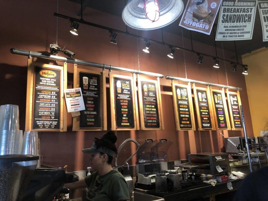 The menu at Lalajava features lattes, teas, espresso and much more. They also have options for flavors, like mocha, coconut and salted caramel.