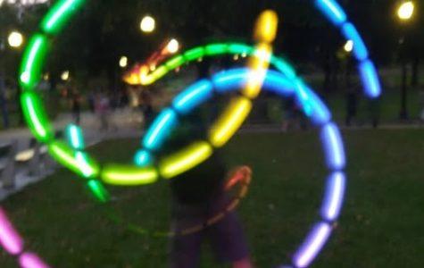 Sophomore lights up poi
