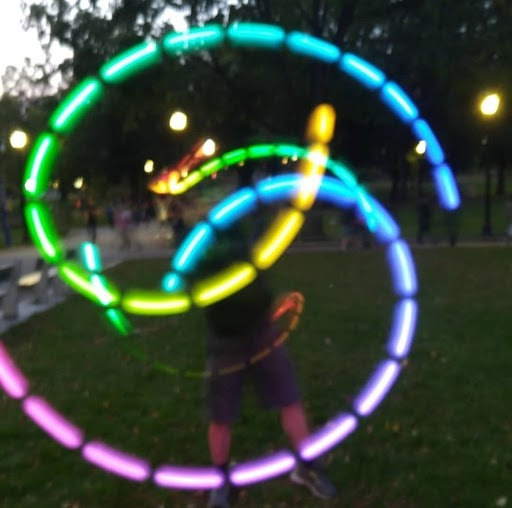 Sophomore Stefan Linden has been performing poi, a dance with LED lights, after being introduced to the art at camp.