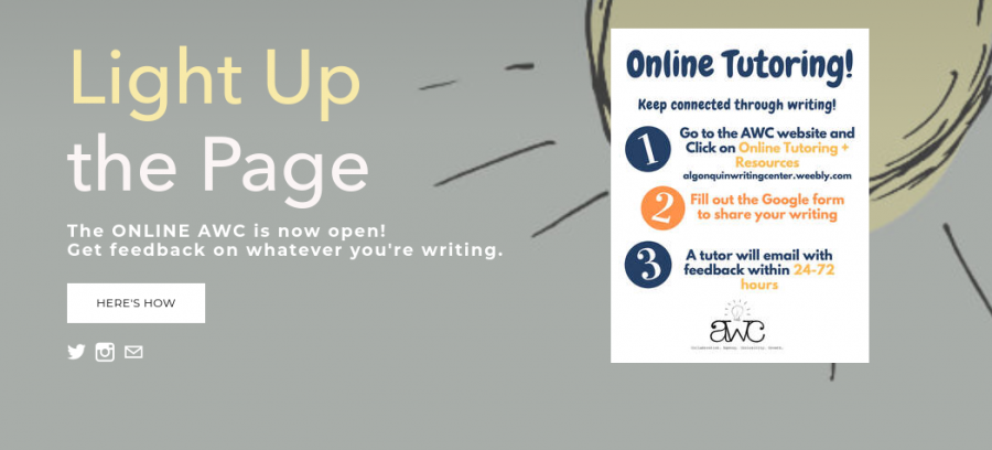 The Algonquin Writing Center will begin offering online tutoring services on Monday, March 30.