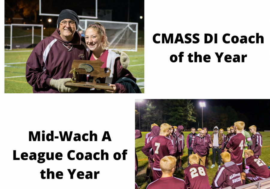 Both the boys' and girls' soccer coaches were awarded coach of the year awards. Scott Tagart, the girls' coach, won the CMASS DI Coach of the Year, and Ken Morin, the boys' coach, won the Mid-Wach A League Coach of the year.