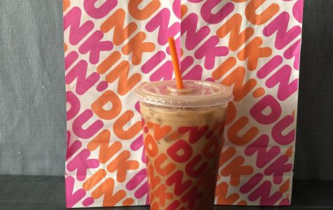Assistant Sports Editor Amy Sullivan's iced mocha with cream from Dunkin' Donuts. This has been her go-to coffee order since the start of the coronavirus pandemic.
