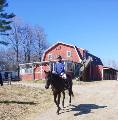 Sophomore  Leona Sungkharom continues to take riding lessons every Saturday at Lil Folk Farm in Holliston. After 11 years, Sungkharom has continued to be a recreational rider only.