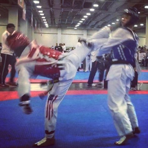 Junior Sanjay Kandadi has been practicing Taekwondo for the past 12 years. Recently, he has been finding success at a national level.
