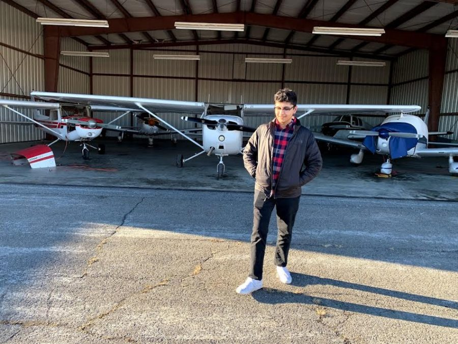 Senior Omar Massoud has started his own videography business, and enjoys flying planes on the side.
