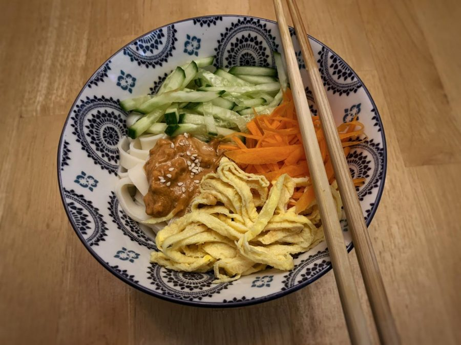 Liang Mian (cold noodles) is the perfect dish to eat on a hot, humid summer day.