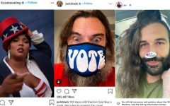 Celebrities use social media to encourage followers to vote