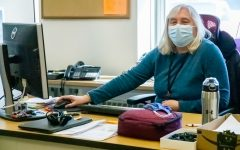 Technology Systems Administrator Sue Whalen will retire after 15 and a half years at Algonquin helping with technology and network issues.