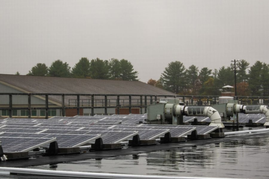 Solar panels were installed at the beginning of the 2020-2021 school year in an effort to save money on electricity and address energy conservation at Algonquin.