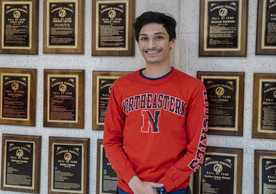 Senior Curran Moholkar is commited to Northeastern University for tennis.