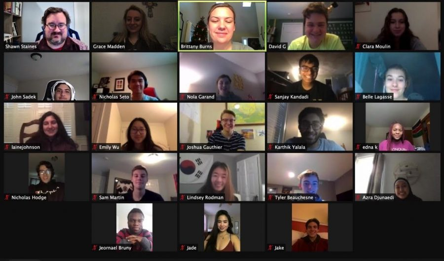 Steering Committee members meet virtually on Zoom to make plans for senior events and create a memorable experience for the class of 2021.
