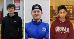 Seniors Patrick Freeman, Brendan Mccarthy and Mikhail Medina have committed to playing sports at Keene State College, Colby College and Vassar College.