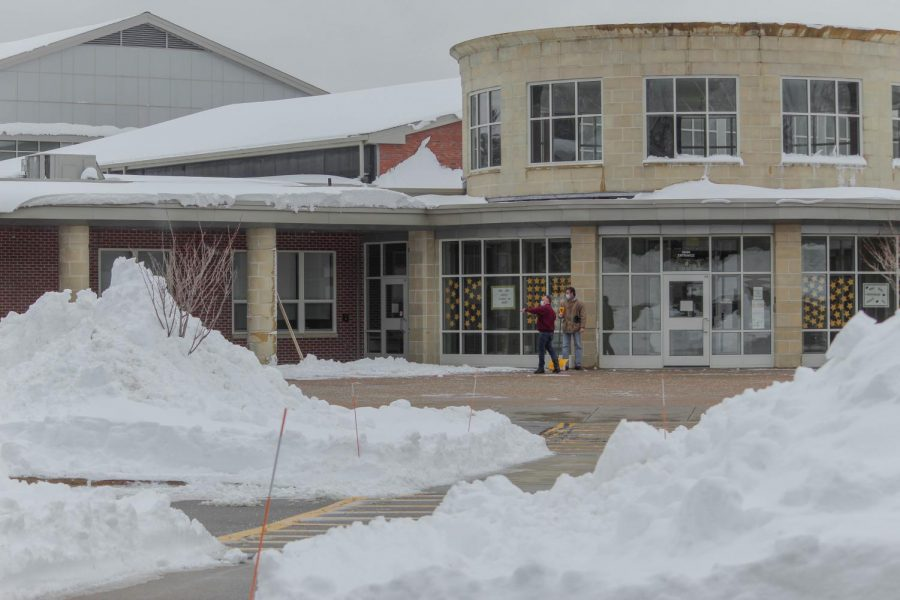 As Northborough and Southborough students enjoyed their day off on February 2, many workers spent the day prepping the exterior of the school for students and other faculty members to return to school on February 3.