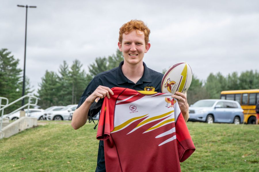 Senior Edward Gostick started his middle schools rugby team as his Eagle Scout project. He thought that it would increase their chance of winning in highschool since the players would have more experience and knowledge of the game.