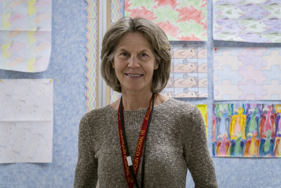 Math teacher Ellen Marieni is retiring after this school year after twenty years of teaching.