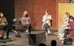 Students do some wonderful acting at the improv show on May 13th, 2021. Seniors Brooke Gaddi, Miranda Slingluff, Sonja Mott, Marin Klein and junior Mari Fellenbaum act as Northborough moms from the Northborough moms Facebook group.