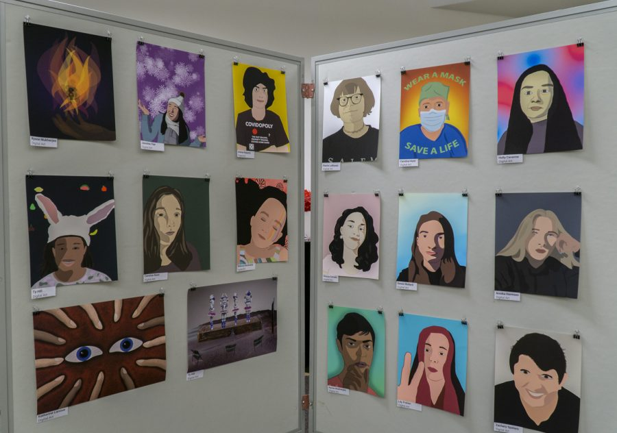 The Underclassmen Art Show displays art created by Digital Art students.