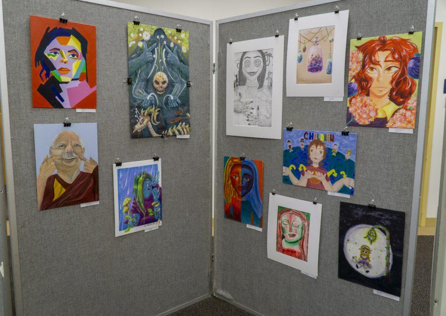 The Underclassmen Art Show displays art made by Advanced Art students.
