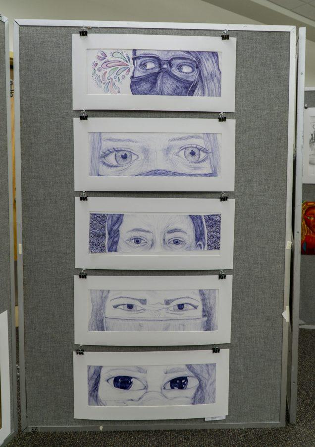 The Underclassmen Art Show displays art created by Advanced Art students.