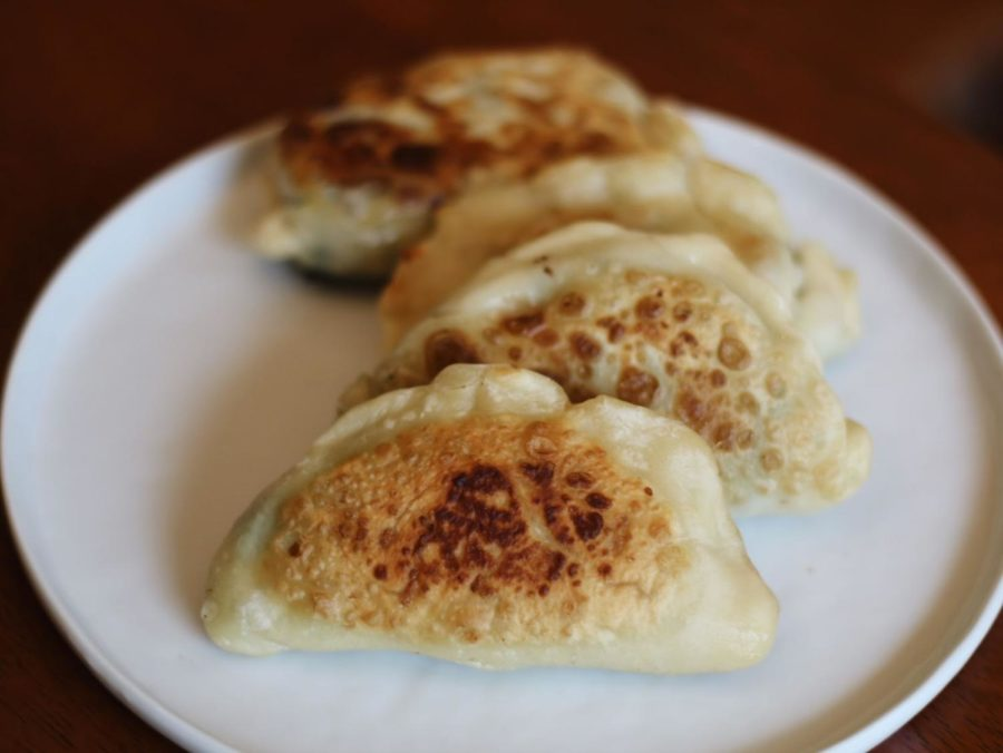 Chive pockets are a delicious, popular snack from Northern China and are eaten with ones favorite dipping sauce.