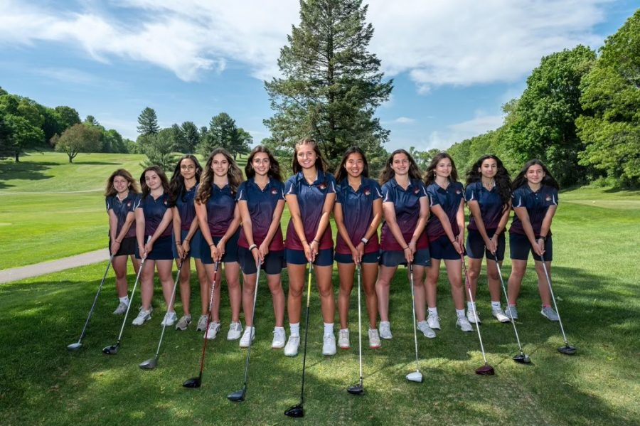 The+girls+golf+team+ended+their+season+with+a+9-0+record%2C+taking+them+to+the+Central+Mass+tournament+where+they+became+Central+Mass+champions.+