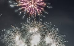 Applefest included a fireworks display Saturday night.